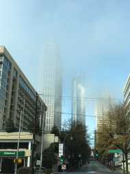 The fog lifting.